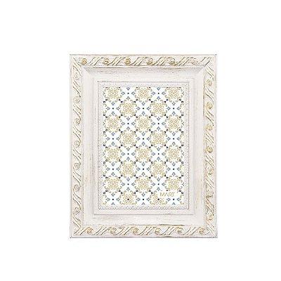 Porta Retrato Neoclássico Branco e Dourado 13x18