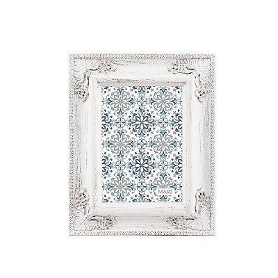 Porta Retrato Clássico Branco e Prata 13x18