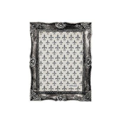 Porta Retrato Vintage Prata Envelhecido 13x18
