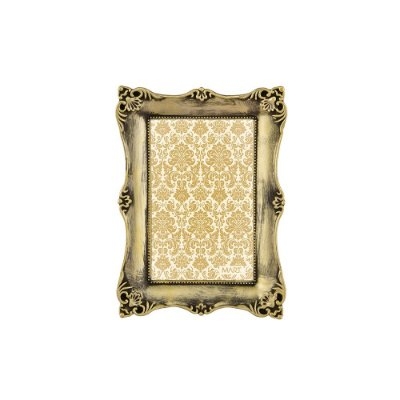 Porta Retrato Antique Dourado Antigo 10x15