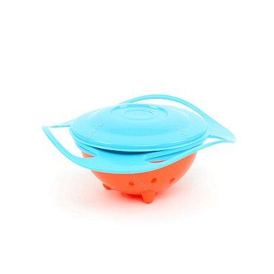 Prato Infantil Giratório Anti-Queda Giro Bowl Azul