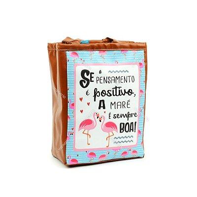 Bolsa Sacola Pequena Flamingo