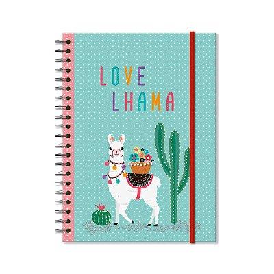 Caderno Universitário Lhama 96 folhas