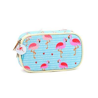 Estojo com Elástico para Lápis Flamingo