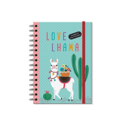 Caderno Pontilhado Lhama
