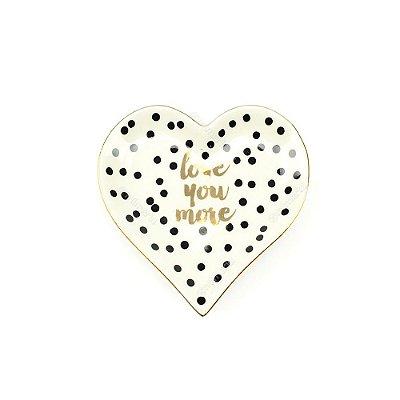 Mini Prato em Cerâmica Coração Love You More