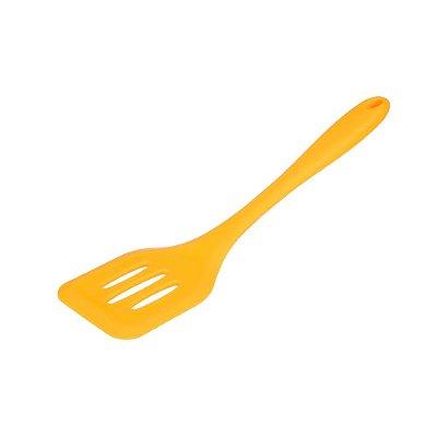 Espátula Perfurada de Silicone Amarela 29 cm