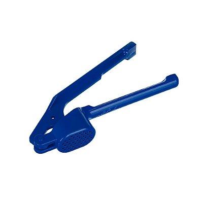 Espremedor de Alho Azul em Alumínio