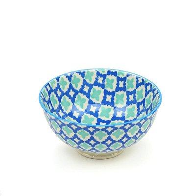 Bowl de Cerâmica Pequeno Marroquino Azul e Verde Água