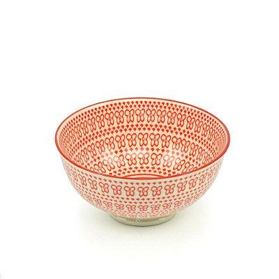 Bowl de Cerâmica Pequeno Mini Flores Coral