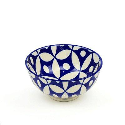 Bowl de Cerâmica Pequeno Geométrico Azul Escuro