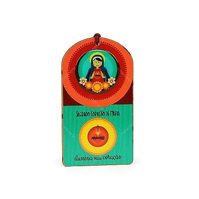 Plaquinha Tag Sagrado Coração de Maria