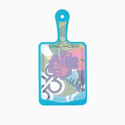Tábua de Corte de Plástico com Alça Oasis Floral Pequena