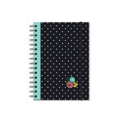 Caderno Clássico Decorado Poá