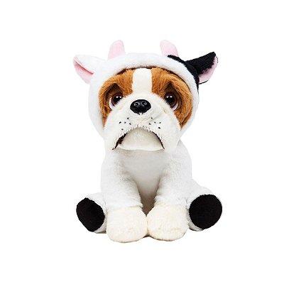 Cachorro Bulldog de Pelúcia Vaquinha