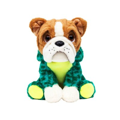 Cachorro Bulldog de Pelúcia Dino