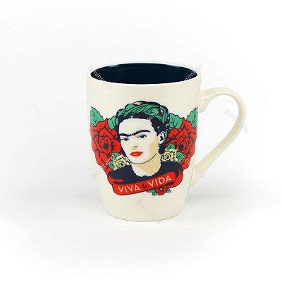 Caneca Decorada Frida Kahlo Viva La Vida