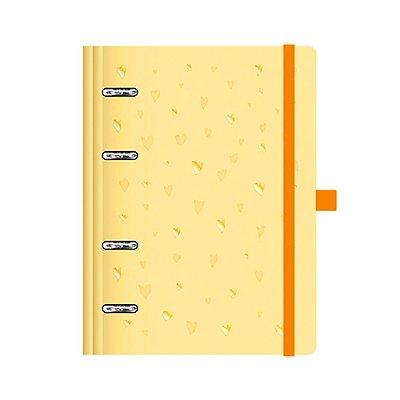 Planner Fichário Romantic Amarelo