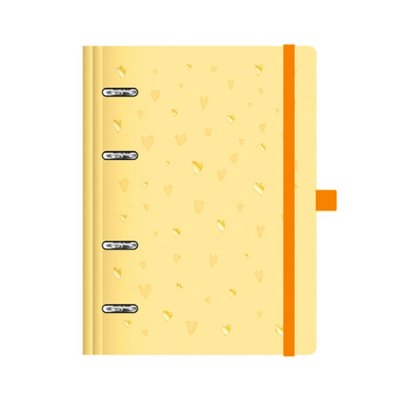Planner Fichário Romantic Amarelo Médio