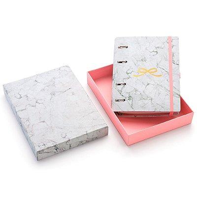 Planner Fichário Pink Stone Laço Médio