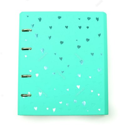 Caderno Fichário Romantic Verde-Água