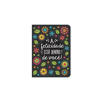 Caderneta Folhas A Felicidade Preta Pequena