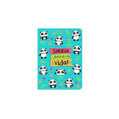 Caderneta Panda Sorria Azul Pequena