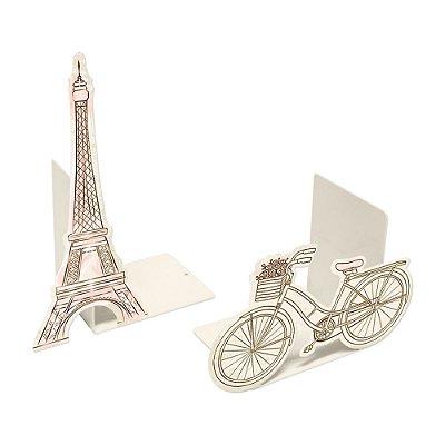 Aparador de Livros em Aço Paris Bege
