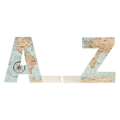 Aparador de Livros em Aço AZ Mapa Mundi