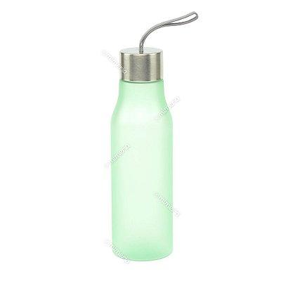 Garrafa de Plástico Soft Glam Verde 650 ml