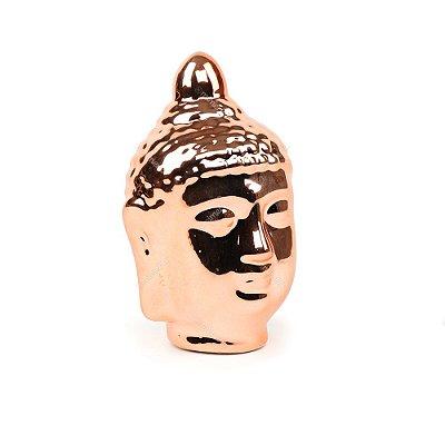 Cabeça de Buda em Cerâmica Rose Gold
