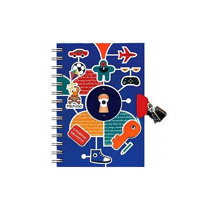 Diário com Chaves Meninos Caderno Secreto
