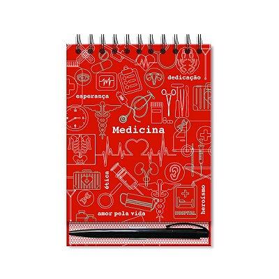 Bloco de Mesa Estampado Medicina