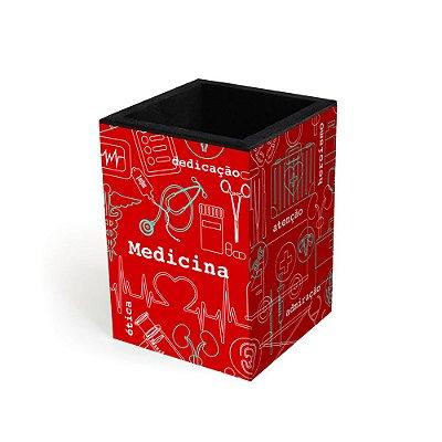 Porta-Lápis Decorado Medicina