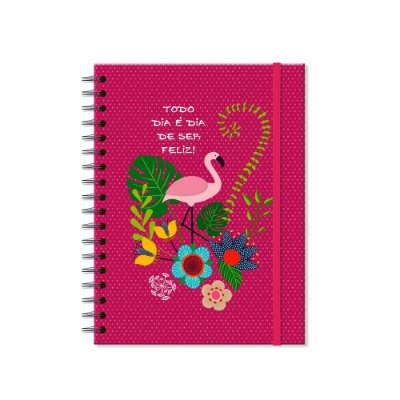 Caderno Colegial Flamingo 96 folhas