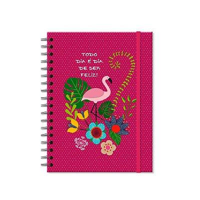 Caderno Colegial Flamingo 200 folhas