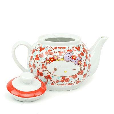 Bule de Cerâmica Hello Kitty Laço Lilás