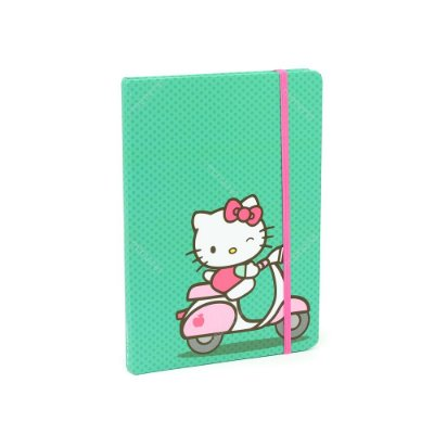 Caderno com Elástico Hello Kitty Bike Verde