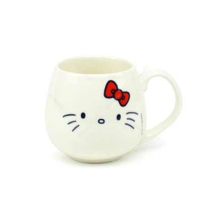 Caneca de Porcelana Hello Kitty Face Hello Kitty Branca