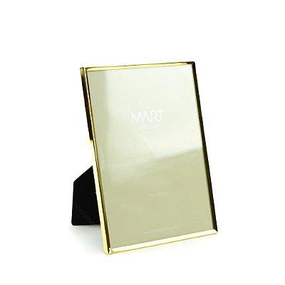 Porta Retrato Metalizado Liso Dourado 15x20