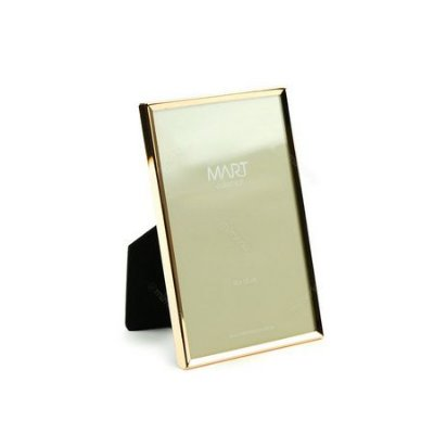 Porta Retrato Metalizado Liso Rose Gold 10x15