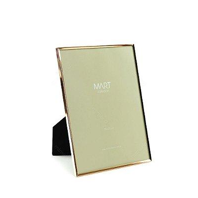Porta Retrato Metalizado Liso Rose Gold 15x20