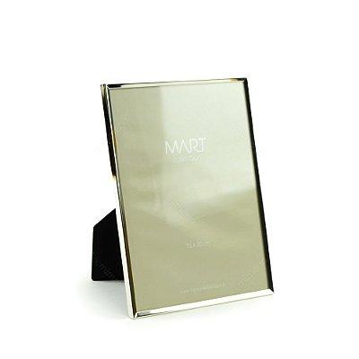 Porta Retrato Metalizado Liso Prata 15x20