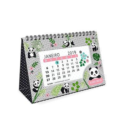 Calendário de Mesa Decorado Panda 2019