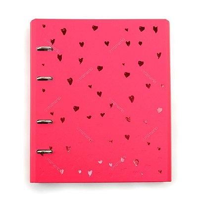 Caderno Fichário Romantic Rosa