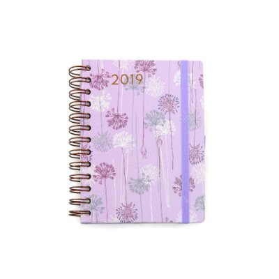 Agenda Diária Floral Lilás 2019