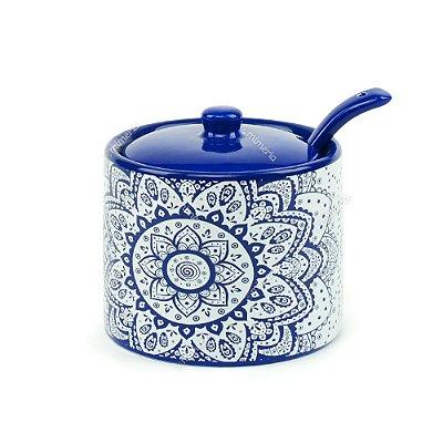 Açucareiro em Cerâmica Índigo Blue