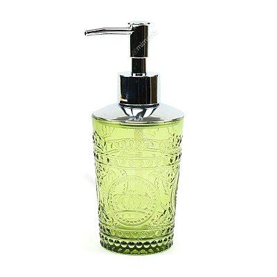 Porta Sabonete Líquido em Vidro Fosco Verde