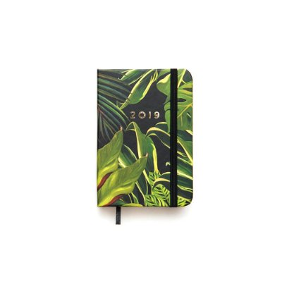 Agenda Diária Floresta Tropical Folhagem Pequena 2019