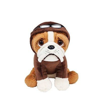 Cachorro Bulldog de Pelúcia Aviador